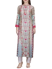 Multicolored Poly Cotton Straight Kurta - By