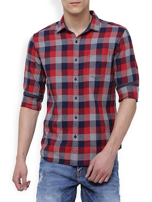 multi cotton casual shirt