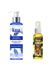 KASA Shampoo With Conditioner Hair Follicle Strength Pro(with Keratin & Biotin)200 Ml & KASA Moroccan Argan Oil 100 Ml Combo - By