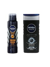 Nivea Mens 150 ml Deodorant Charge and 250 ml Shower Gel Active Clean -  online shopping for Bath & Body