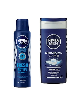 Nivea Mens 150 ml Deodorant Original and 250 ml Shower Gel Original Care -  online shopping for Bath & Body