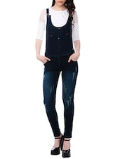 dark blue denim dungaree -  online shopping for Jumpsuits