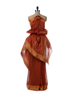 Red Cotton Saree - Platinum Sarees