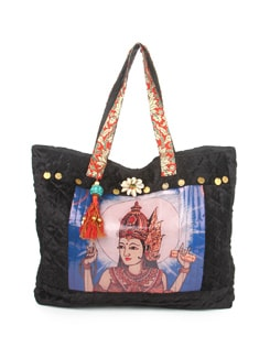 Black Goddess Tote Bag - The House Of Tara