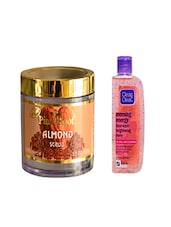 Pink Root Almond Scrub (100gm) With Clean & Clear Morning Energy Face Wash Brightening Berry (100ml) Pack Of 2 - By