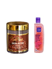 Pink Root Cocoa Butter Scrub (100gm) With Clean & Clear Morning Energy Face Wash Brightening Berry (100ml) Pack Of 2 - By