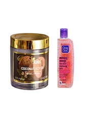 Pink Root Coconut Scrub (100gm) With Clean & Clear Morning Energy Face Wash Brightening Berry (100ml) Pack Of 2 - By