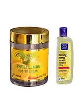 Pink Root Sweet Lemon Butter Cream (100gm) With Clean & Clear Morning Energy Face Wash Energizing Lemon (100ml) Pack Of 2 - By