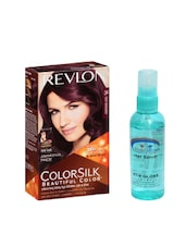 Pink Root Hair Serum (100ml) With Revlon Colorsilk Hair Color With 3D Color Technology Dark Burgundy 34 Pack Of 2 - By