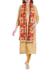 Multi Colored Chiffon Phulkari Dupatta - By