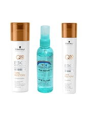 Schwarzkopf Q10 Plus Time Restore Conditioner+Shampoo With Pink Root Hair Serum Pack Of 3 - By