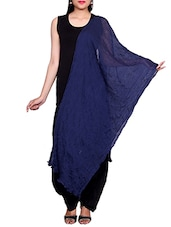 Blue Chiffon Plain Dupatta - By