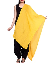 Yellow Chiffon Plain Dupatta - By