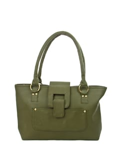 Olive Textured Tote - ALESSIA