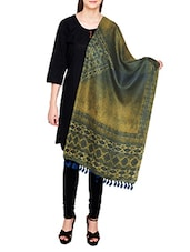 Green Poly Silk Tie & Dye Dupatta - By