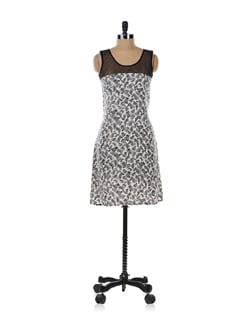 Black Zebra Print Dress - Aamod