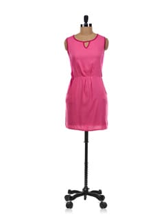 Two Toned Pink Dress - Aamod