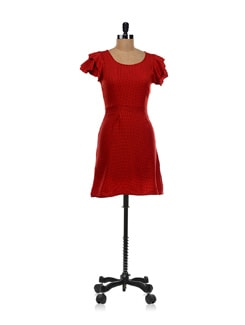 Red Polka Dot Dress - Aamod