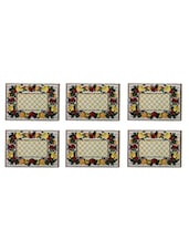 Table Mats (Set Of 6)On Jacquard Cotton Fabric - By