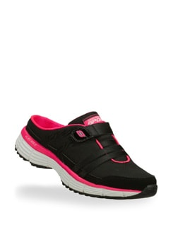 Black and Pink Agility Kick Back Shoe - Skechers