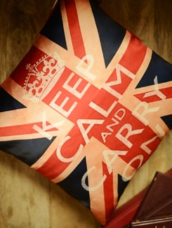 Keep Calm And Carry On Cushion Cover - Yolo By Spread
