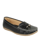 Black Patent Slip On Loafers - By