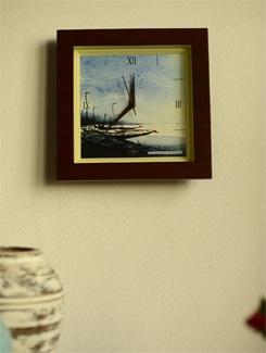 "Art Printed Wall Clock - ""Boats I"" By Samiran Sarkar - Artfairie"