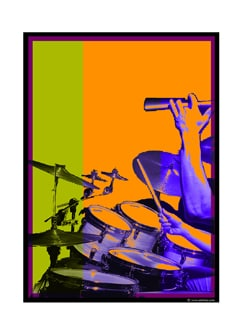 Digital Art Of Drums Poster - Artfairie
