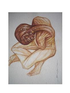 Man In Foetal Position By Rajib Bag (Archival Quality Print) - Artfairie