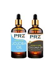 PRZ Combo Of Jojoba Oil & Extra Virgin Coconut Oil For Hair Growth, Skin Care (Each 15ML ) - By