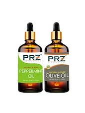 PRZ Combo Of Peppermint Oil & Extra Virgin Olive Oil For Hair Growth, Skin Care (Each 15ML ) - By