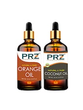 PRZ Combo Of Orange Oil & Extra Virgin Coconut Oil For Hair Growth, Skin Care (Each 15ML ) - By