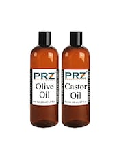 PRZ Combo Of Extra Virgin Olive Oil & Castor Oil (Each 200 ML) - By