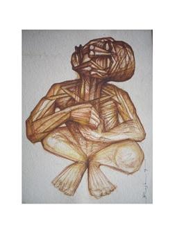 Man Sitting I By Rajib Bag (Archival Quality Print) - Artfairie
