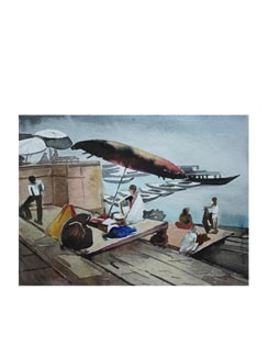 Benaras Ghat (Archival Quality Print) - Artfairie 14871