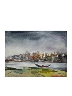 Benaras Ghat (Archival Quality Print) - Artfairie 14873