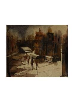 Old City Scape By Pousali Das (Archival Quality Art Print) - Artfairie