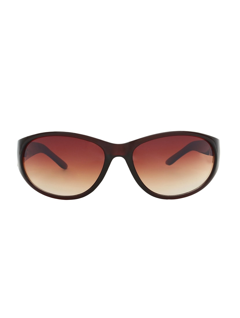 Zyaden Brown Oval Sunglasses For Women 417 - By