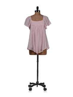 Baby Pink Ruched Top - REME