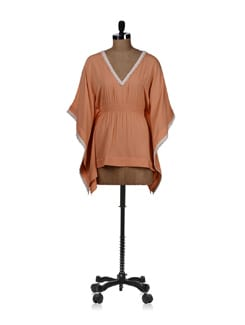 Orange Cream Kaftan Top - REME