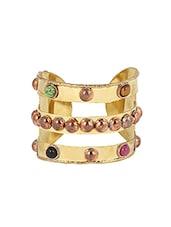 Gold Metal Cuffs Bracelet - By