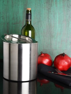Plain Silver Double-Walled Ice Bucket - Lohia's