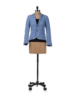 Blue Linen Jacket - Chemistry