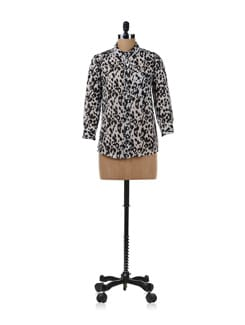 Black Leopard Print Shirt - Chemistry