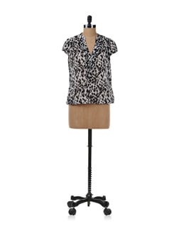 Black Leopard Print Tunic Top - Chemistry