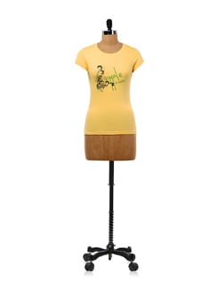 Yellow 'Simle And Classy' T-shirt - OFFBEAT