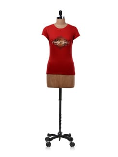 Seize The Day' Red T-shirt - OFFBEAT