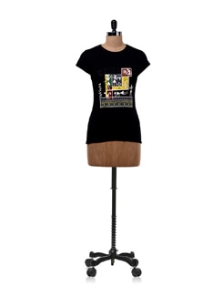 Joy Of Work Black T-shirt - OFFBEAT