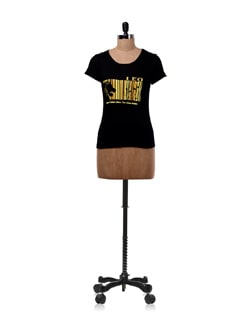 Black 'Leo'  Zodiac T-shirt - OFFBEAT