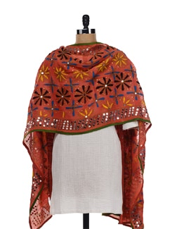 Beautiful Phulkari Dupatta - Vayana 15733